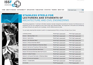 Lecture modules about stainless steel